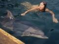 Светлана Дороганич с дельфином
