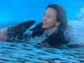 Плаваю с дельфином